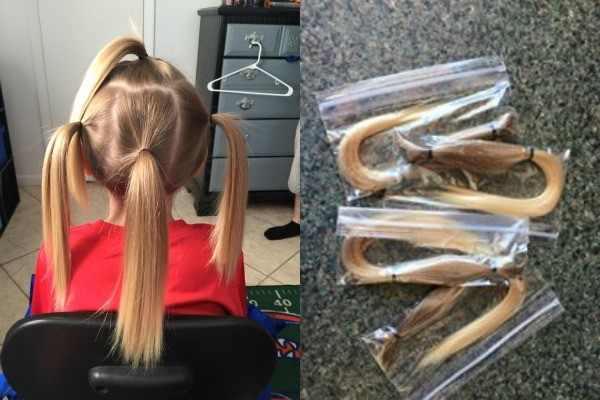 boy donates hair 2