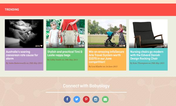 trending babyology website