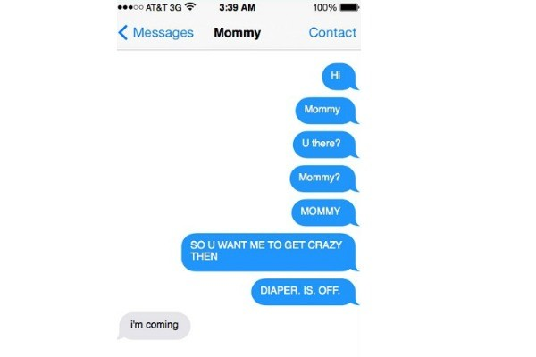 toddler text mum