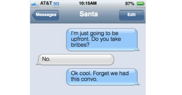 toddler text santa