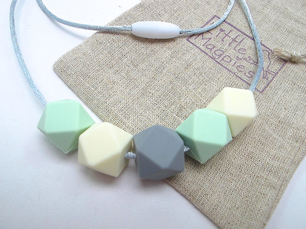 New mums etsy -Little Magpies Silicone Teething Necklace