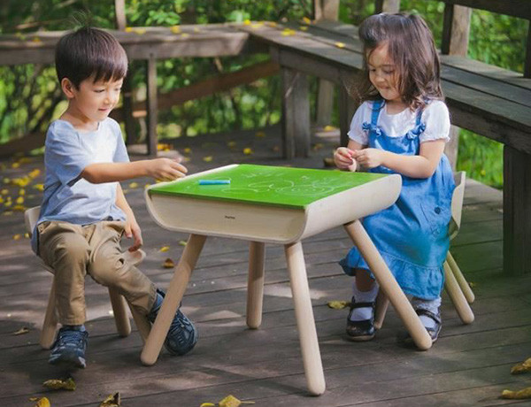 Chalk At The Ready With This Wooden Table And Chair Set