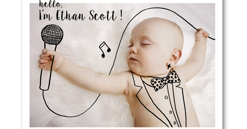 Etsy find of the day personalised birth announcement card – Baby Announcement Cards Etsy