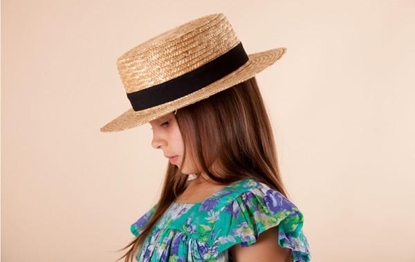 Acorn boater hat