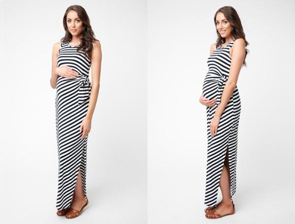 Glow Mama Side Tie Maxi Dress
