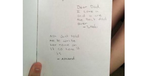 fatherday card ash