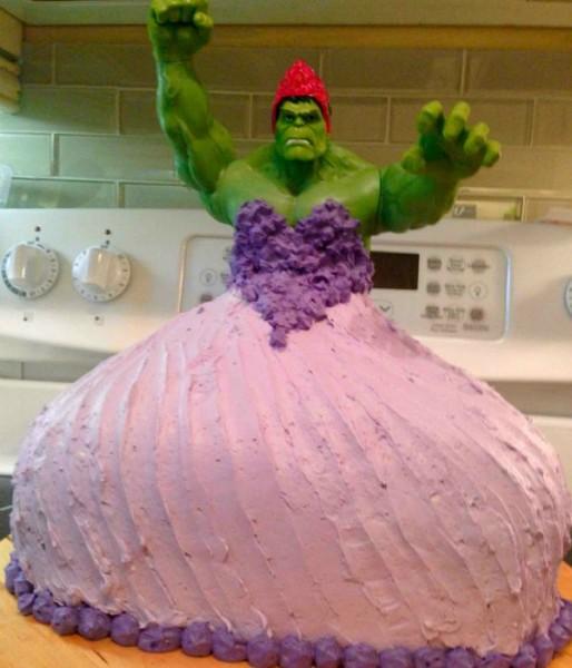 princess hulk cake