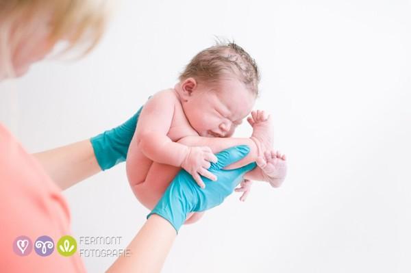 doctor holding newborn baby in her hands