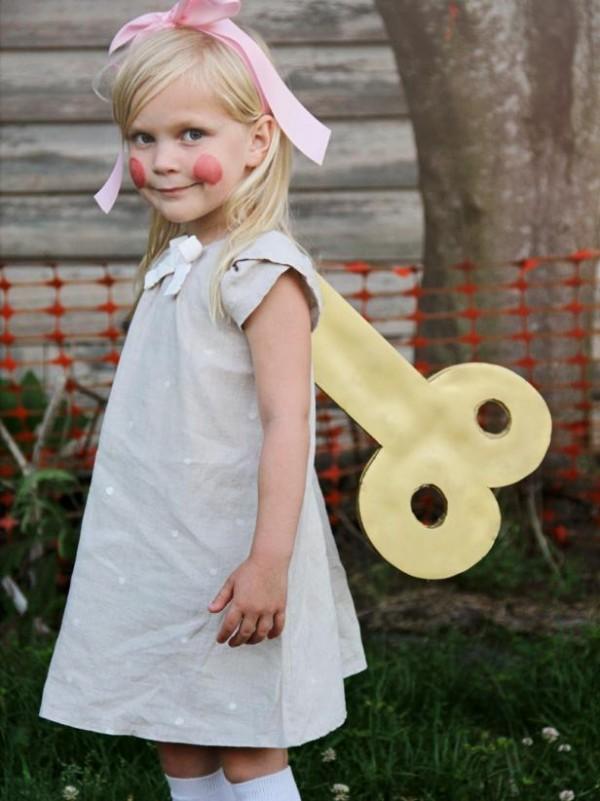 Wind-up doll Halloween costume
