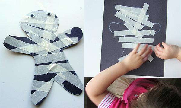 Halloween-Masking-Tape-Mummy