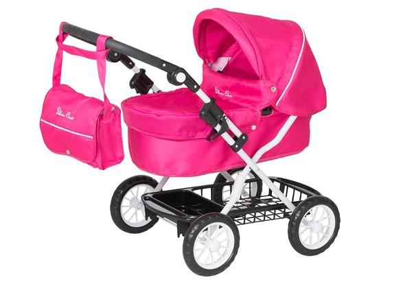 Silvr-Cross-pink-doll-pram