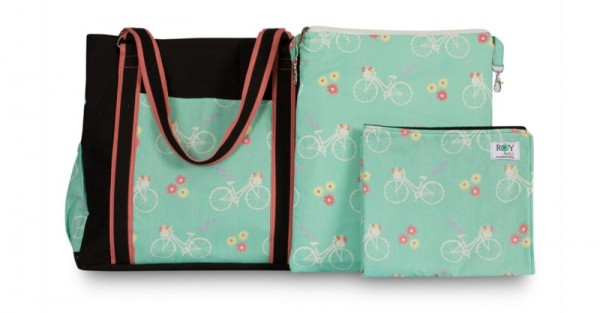 Chele and maye bicycles nappy bag