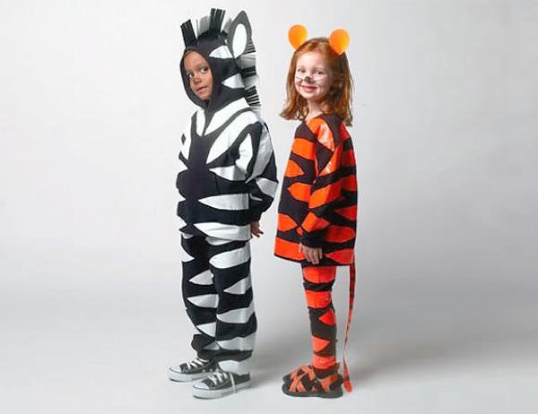 zebra and tiger DIY halloween costume