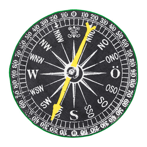 IKEA compass rug
