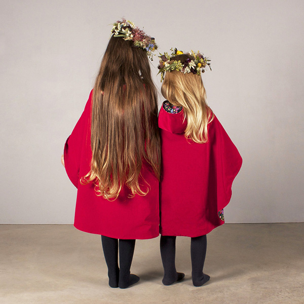Red Cape Two Girls