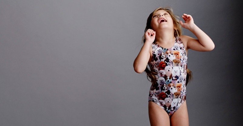 Etsy find of the day girls puppy print tank swimsuit