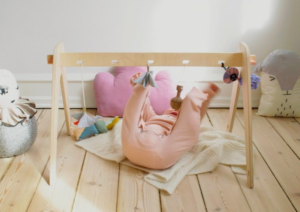 1st play handmade wooden baby gym