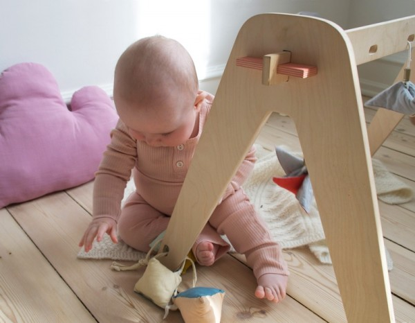 1st play handmade wooden baby play gym