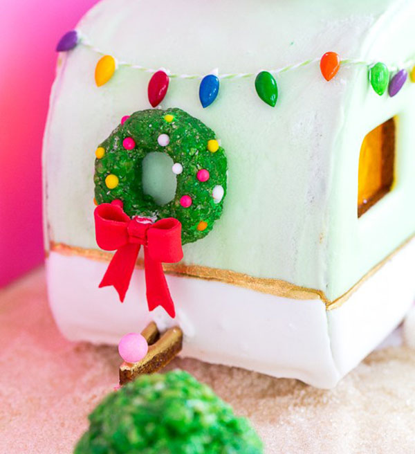 A Traditional Gingerbread House Gets A Retro Mobile Home Makeover