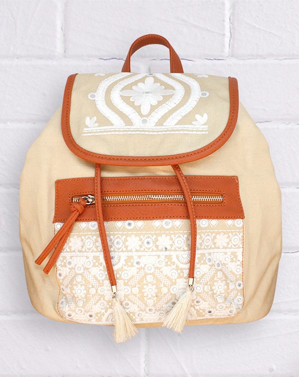 Pavement embroidered backpack