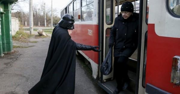 darth on bus