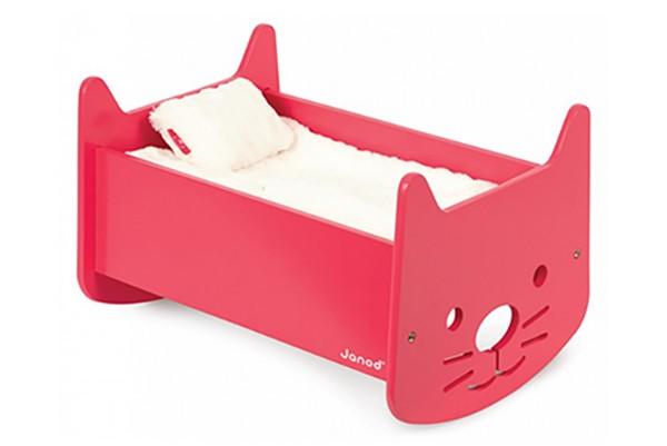 janod babycat doll cradle