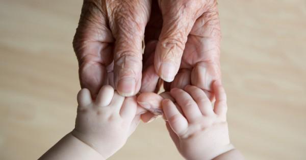 old hands baby grandparents grandpa grandma