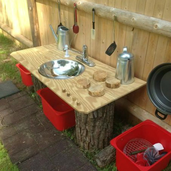 Fun Ideas For Outdoor Mud Kitchens For Kids
