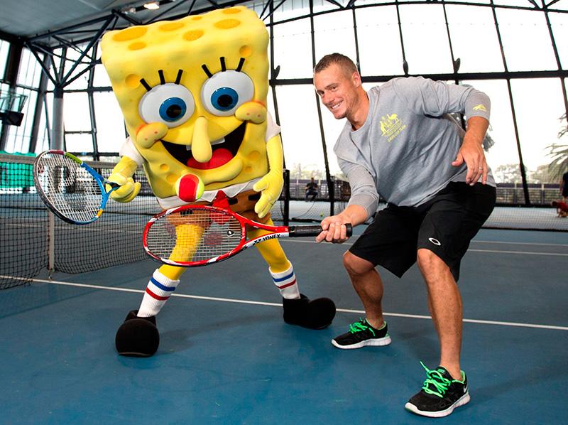 Nicks-kids-tennis-Lleyton-Hewitt-and-SpongeBob