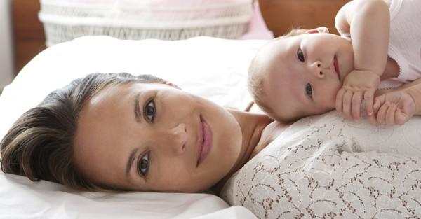 beautiful mum and baby