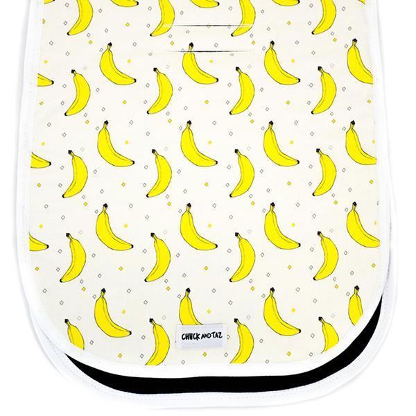 Chuck and Taz banana pram liner