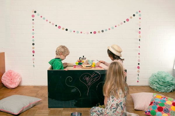 Hodgepodge crate tea party