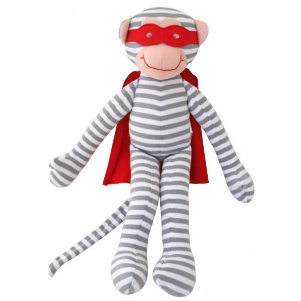 alimrose designs monkey rattle - superhero