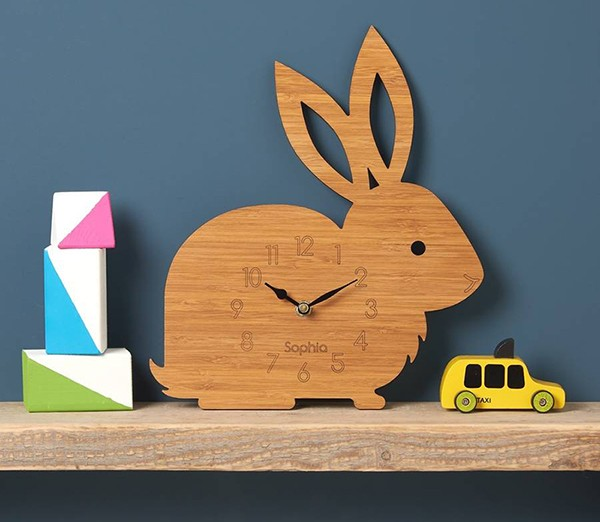 4 Otter & Owl Personalised Rabbit Clock