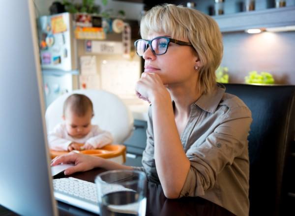 mum studying working home sl