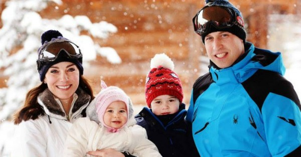 royal family in snow