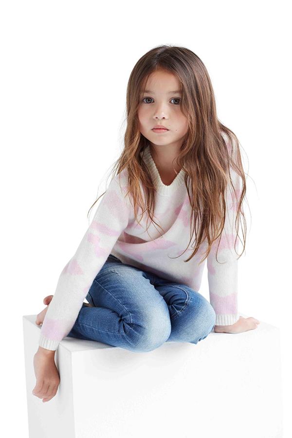 Atelier Child pink camo jumper