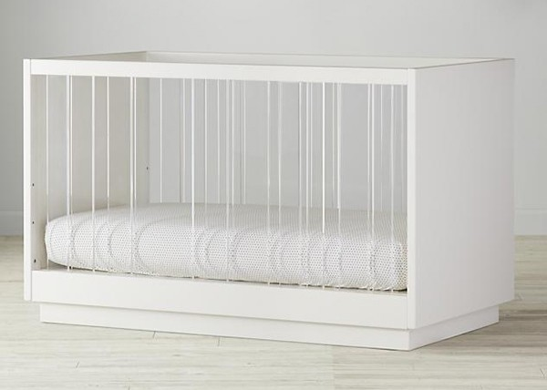 Land of Nod Panorama Cot WHITE