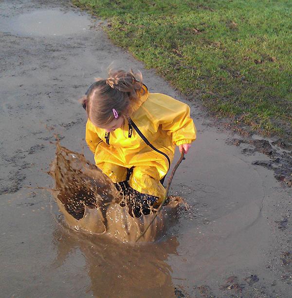 Muddy Buddy Jumping puddle