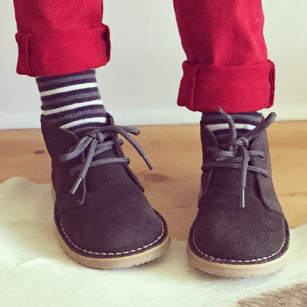 Lace up desert boots