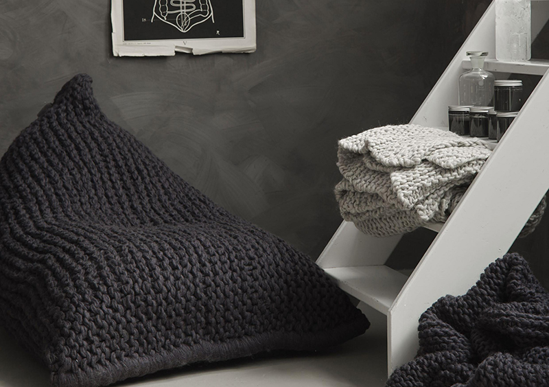 Zilalila Blankets Nest. Knitted In Nepal From Lovely New Zealand Wool, The  Nest Bean Bag Chairs ...