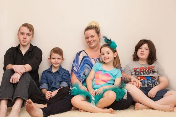 Christie and children