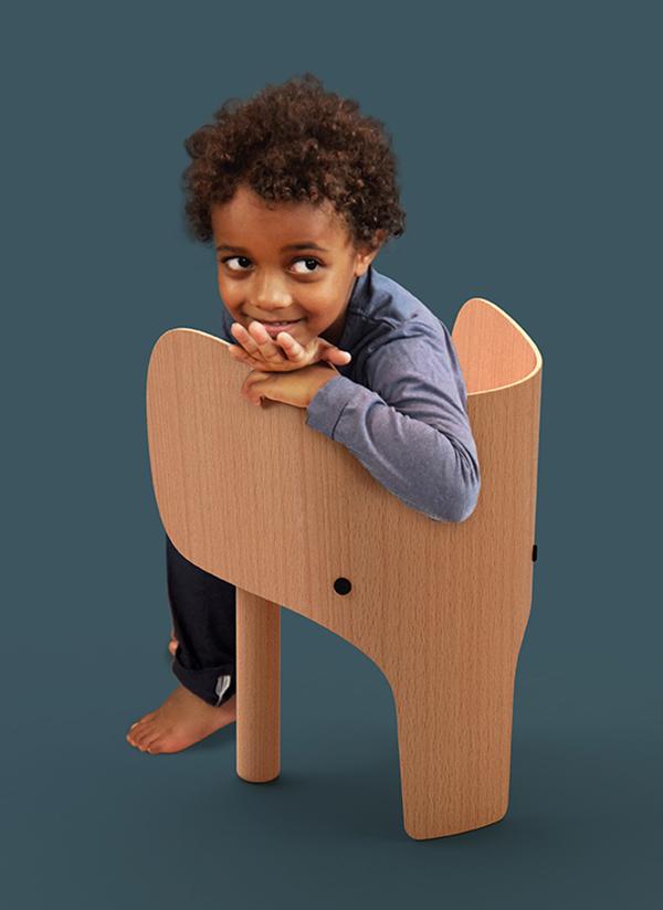 Elephant Chair boy