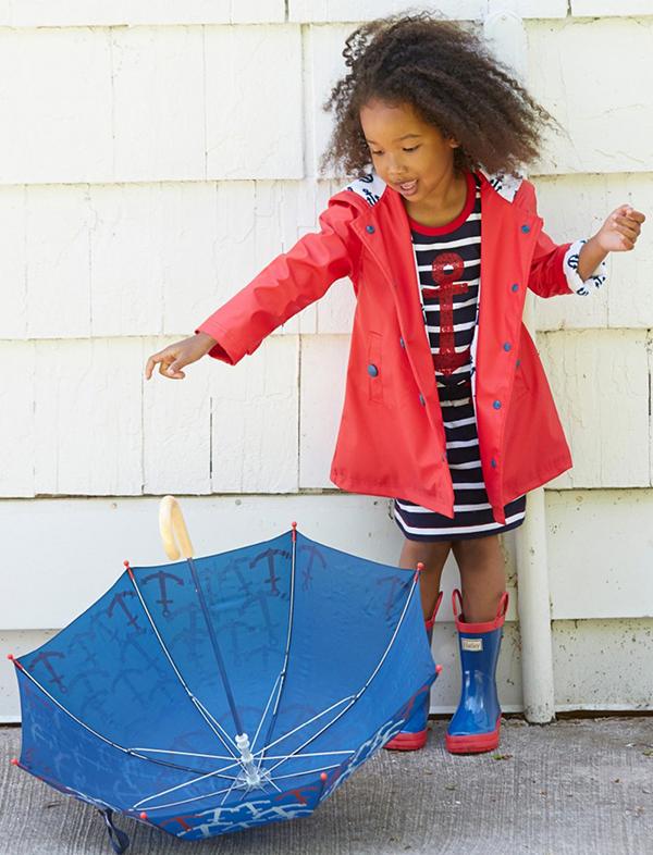 Hatley red raincoat girl