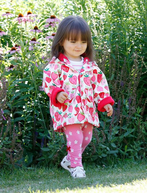 Hatley strawberry raincoat girl