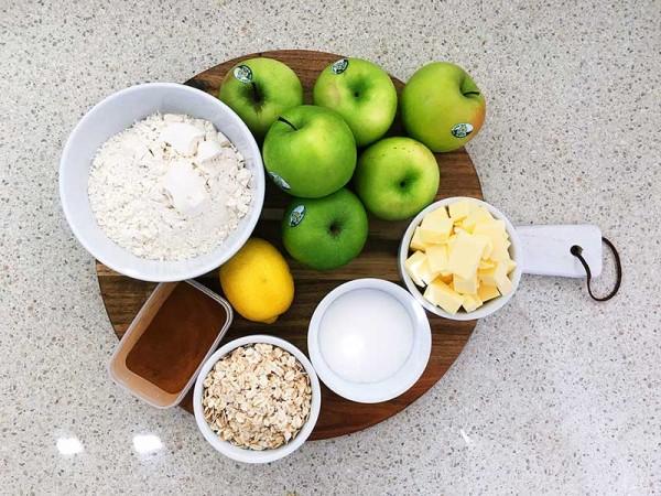 Lets-Cook-apple-crumble-ingredients