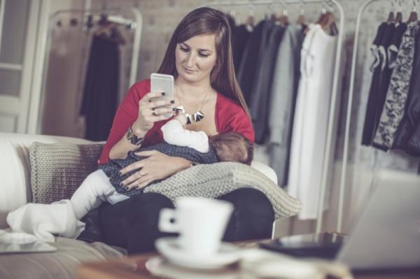 breastfeeding on phone sl