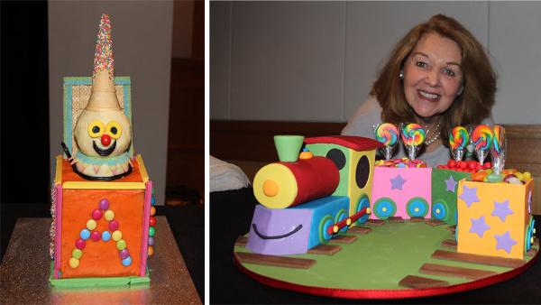 AWW train cake