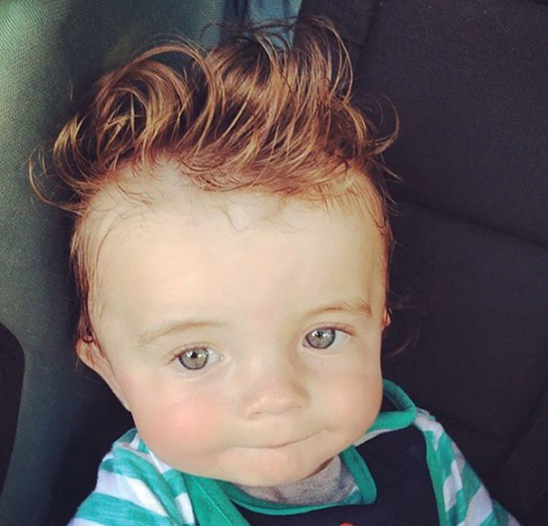 young baby with lots of hair