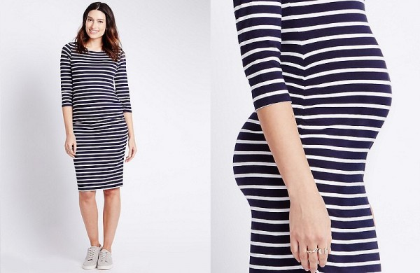 M&S striped dress
